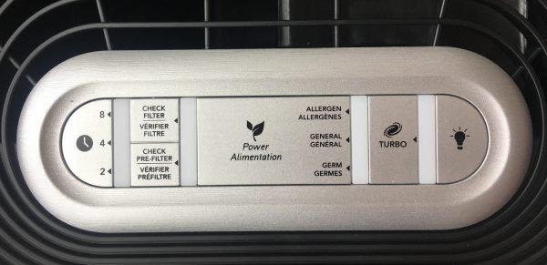Honeywell HPA100 Air Purifier Controls