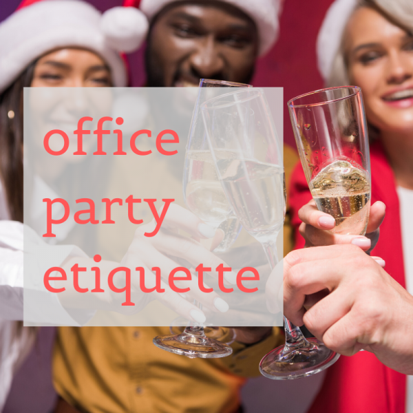 multi-racial group at party drinking champagne